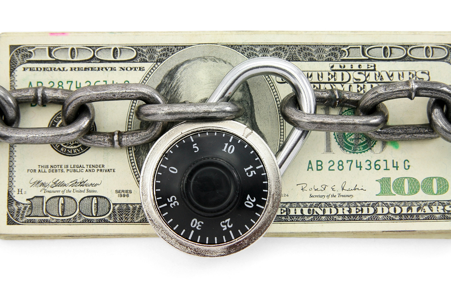Locked Up US Dollar